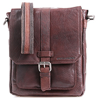 Мужская сумка Spikes&Sparrow из кожи темно-коричневого цвета, фото