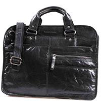 Черная сумка-портфель Spikes&Sparrow из натуральной кожи, фото
