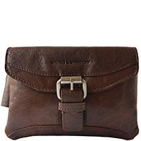 Мужская сумка-пояс Spikes&Sparrow темно-коричневого цвета, фото