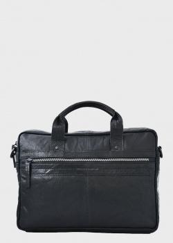 Сумка-портфель Spikes&Sparrow из кожи черного цвета, фото