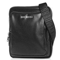 Черная сумка Bikkembergs с брендовой надписью, фото