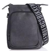 Плечевая сумка Bikkembergs серого цвета, фото
