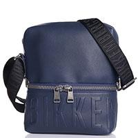 Мужская сумка Bikkembergs с ремнем синего цвета, фото