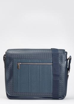 Мужская сумка Billionaire из темно-синей кожи, фото