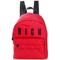 Текстильный рюкзак John Richmond красного цвета, фото