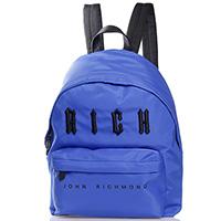 Синий рюкзак John Richmond с логотипом, фото