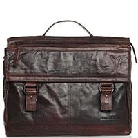 Мужской портфель Spikes&Sparrow Authentic из коричневой кожи, фото