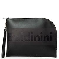 Папка для документов Baldinini Kevin черного цвета с логотипом, фото