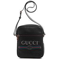 Черная сумка Gucci Print с логотипом, фото
