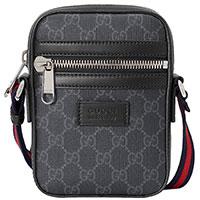 Серая сумка Gucci Supreme из текстиля, фото