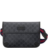 Мужская сумка Gucci Supreme серого цвета, фото