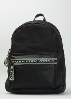 Черный рюкзак Iceberg с фирменными надписями, фото