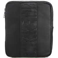 кожаная сумка Bikkembergs черного цвета, фото