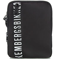 Черная сумка Bikkembergs с надписью, фото