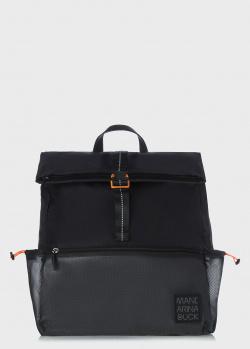Черный рюкзак Mandarina Duck Spirit с накладным карманом, фото