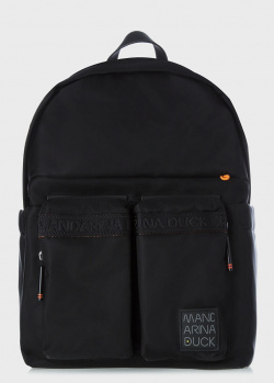 Черный рюкзак Mandarina Duck Warrior с отделением для ноутбука, фото