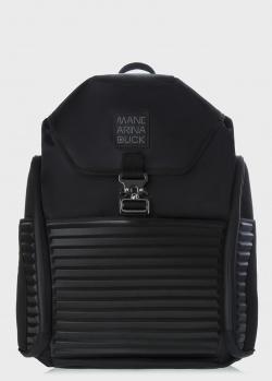 Черный рюкзак Mandarina Duck Tough с клапаном на защелке, фото