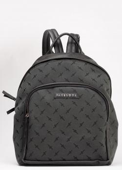 Черный рюкзак Cesare Paciotti с брендовым принтом, фото