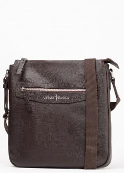 Коричневая сумка Cesare Paciotti из зернистой кожи, фото