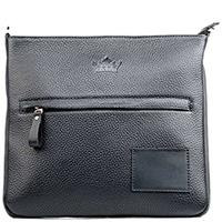 Плоская сумка Amo Accessori Paolo из зернистой кожи, фото