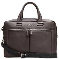 Коричневая сумка Amo Accessori Valentino на молнии, фото