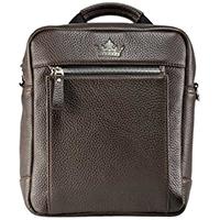 Мужская сумка Amo Accessori Gino из коричневой кожи, фото