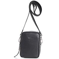 Мужская сумка Amo Accessori из черной зернистой кожи, фото