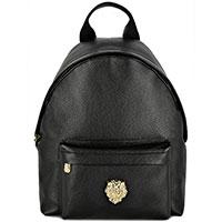 Черный рюкзак Billionaire с брендовым декором, фото