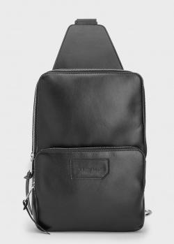 Черный монорюкзак Billionaire с карманом на молнии, фото