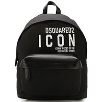 Черный рюкзак Dsquared2 Icon с накладным карманом, фото