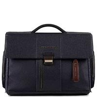 Синий портфель Piquadro Brief с отделением для ноутбука, фото