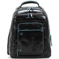 Кожаный рюкзак Piquadro Blue Square черный с отделением для iPad или ноутбука до 13 дюймов, фото
