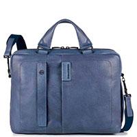 Портфель Piquadro Pulse синего цвета с отделением для ноутбука, фото