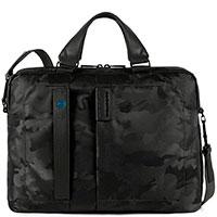 Мужской портфель Piquadro Pulse с отделением для ноутбука в черном цвете, фото