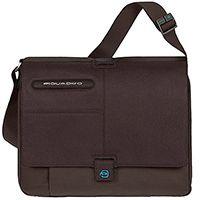 Сумка Piquadro Signo коричневого цвета на ремне со съемным чехлом для ноутбука, фото