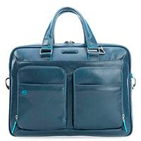 Синяя сумка Piquadro Bl Square с отделением для ноутбука, фото