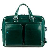 Зеленая сумка Piquadro Bl Square с отделением для ноутбука, фото