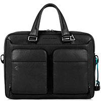 Черная сумка Piquadro Bk Square с отделением для ноутбука, фото