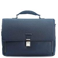 Портфель Piquadro Modus с отделением для ноутбука синего цвета, фото