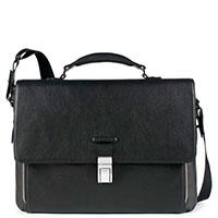 Черный портфель Piquadro Modus с отделением для ноутбука, фото