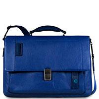 Синий портфель Piquadro Pulse с отделением для ноутбука, фото