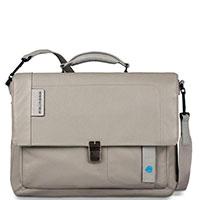 Серый портфель Piquadro Pulse с отделением для ноутбука, фото