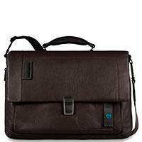 Коричневый портфель Piquadro Pulse с отделением для ноутбука, фото