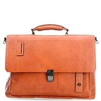 Портфель Piquadro Pulse с отделением для ноутбука в коричневом цвете, фото