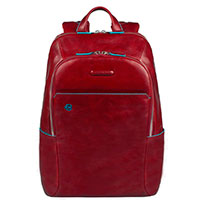Красный рюкзак Piquadro Bl Square с отделением для ноутбука, фото