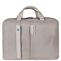 Портфель Piquadro Pulse серого цвета с отделением для ноутбука, фото