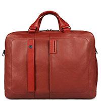 Мужской портфель Piquadro Pulse красного цвета, фото
