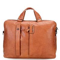 Мужской портфель Piquadro Pulse коричневого цвета, фото
