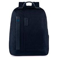 Синий рюкзак Piquadro Pulse с секцией для ноутбука, фото