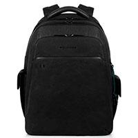 Черный рюкзак Piquadro Bk Square с отделением для ноутбука, фото